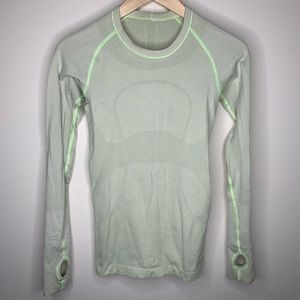Lululemon Swiftly Green Long Sleeve Shirt Size 4